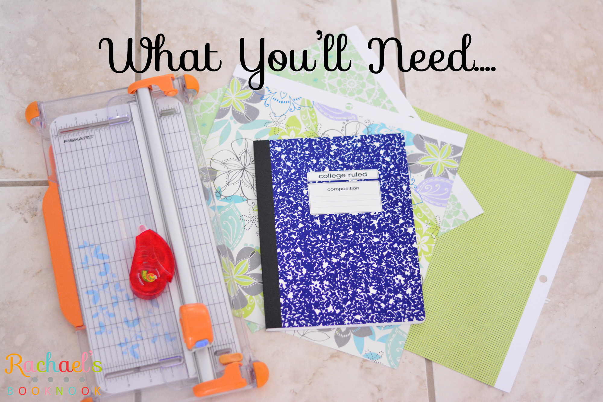 Diy Composition Book Cover : Diy journal out of composition notebook rachael s booknook