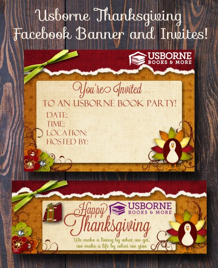 Usborne thanksgiving banner flyer