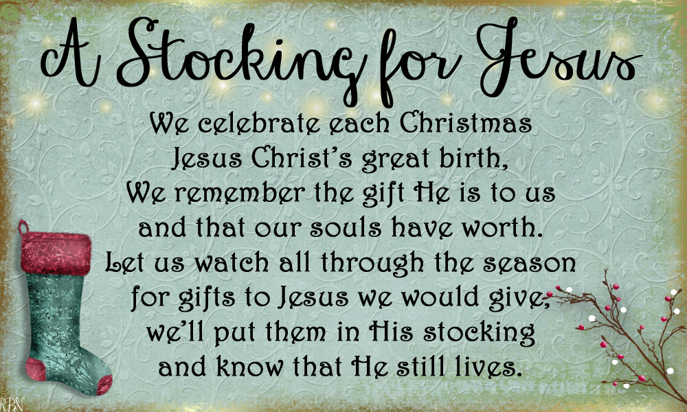 A Stocking For Jesus- A New Tradition to Bring Christ Back to ...