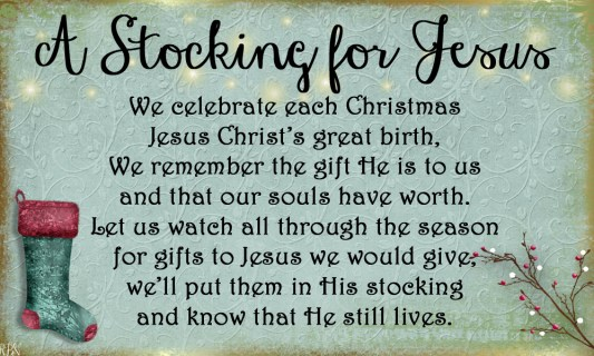 stocking for Jesus poem