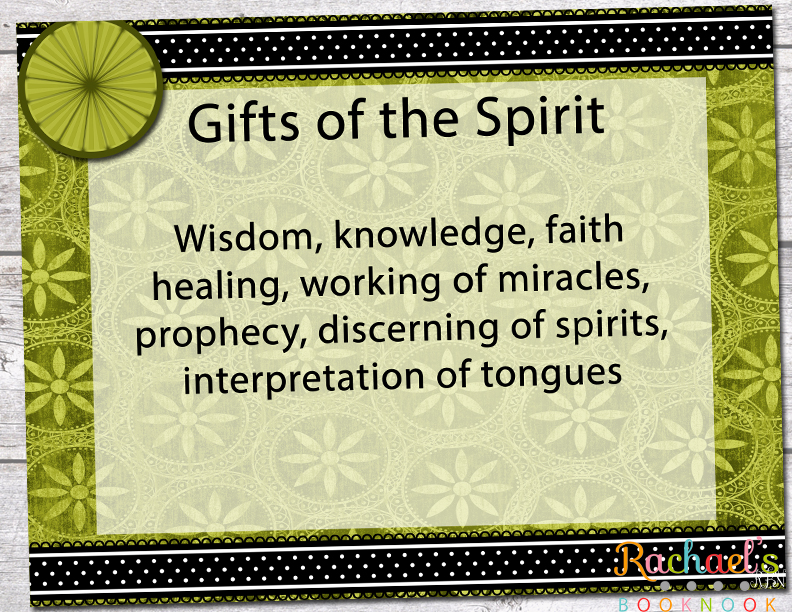 research paper on the gifts of the holy spirit