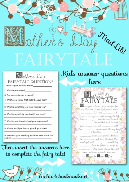 Mother's Day Fairy Tale Mad Lib Flyer