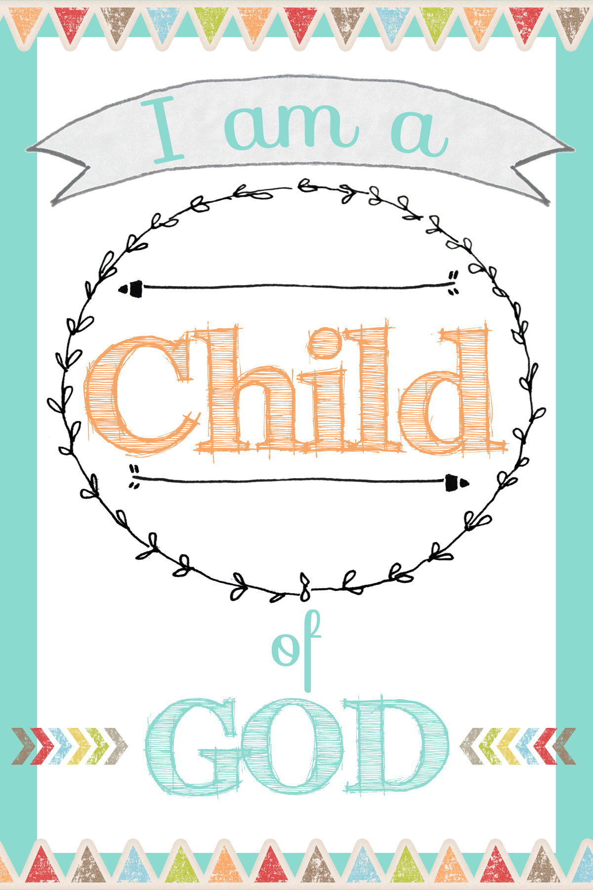 photograph regarding I Am a Child of God Printable called I am a Youngster of God Totally free Printable - Rachaels BookNook