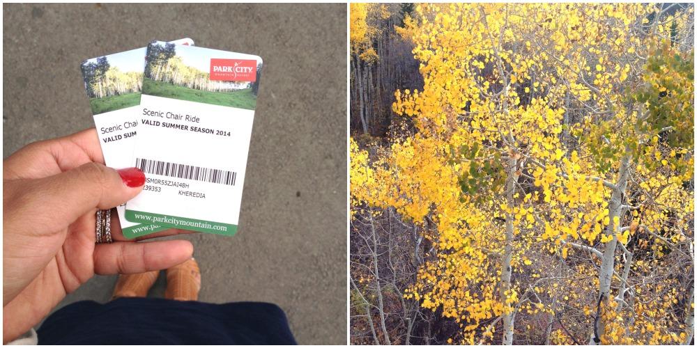park city mountain resort, fall leaves