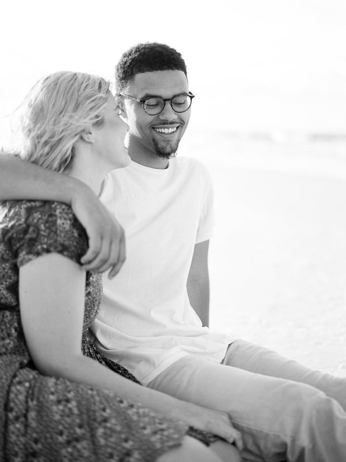 Engagement  Playful & Romantic Session on Miramar Beach