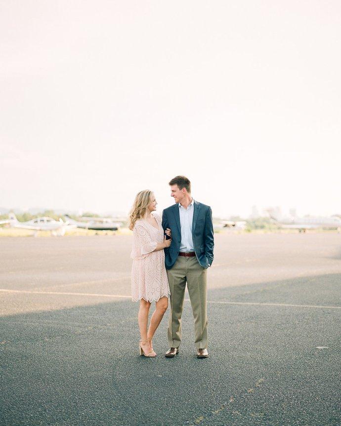 Engagement wedding  Engagement Session at Birmingham Flight Center