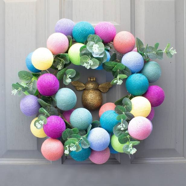 Cable & Cotton Spring wreath