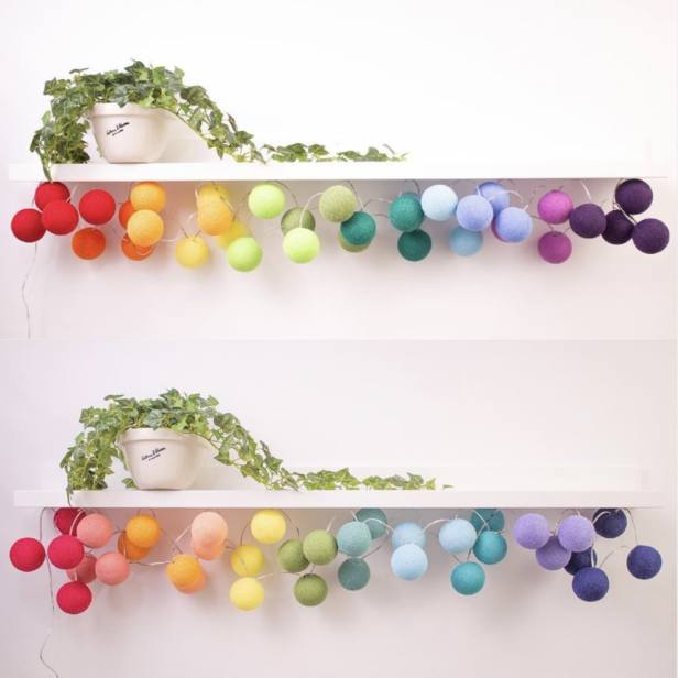 Cable & Cotton lights under shelves