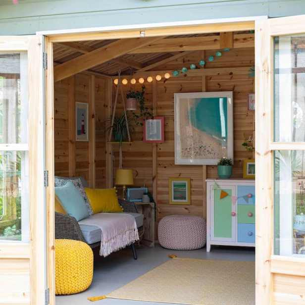 Hospice summer house with doors open