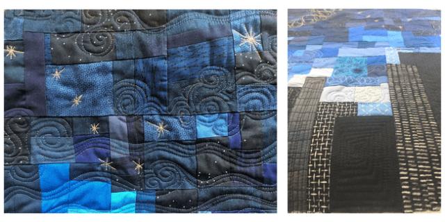 Alaska improv quilt detail