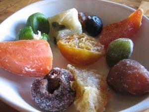 Frutas cubiertas