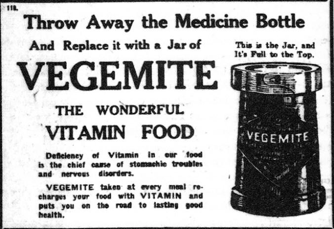Nineteenth century advertisement for Vegemite