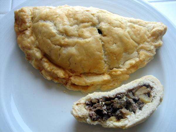 Beef and potato pasty