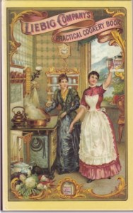 The modern kitchen of the late nineteenth century. Leibig Company's Practical Cookbook (1870s, reprinted Southover, 1999).