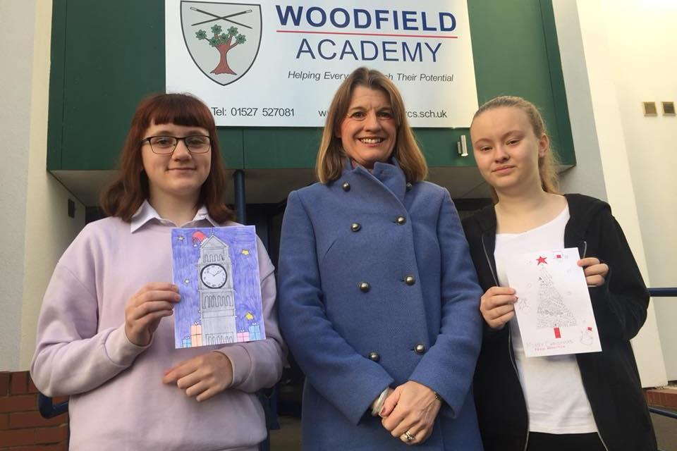 Rachel launches this year's Christmas card competition