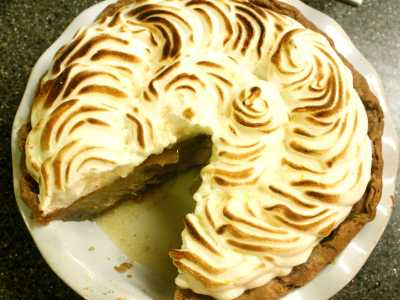 Sweet Potato Pie with Orange Meringue