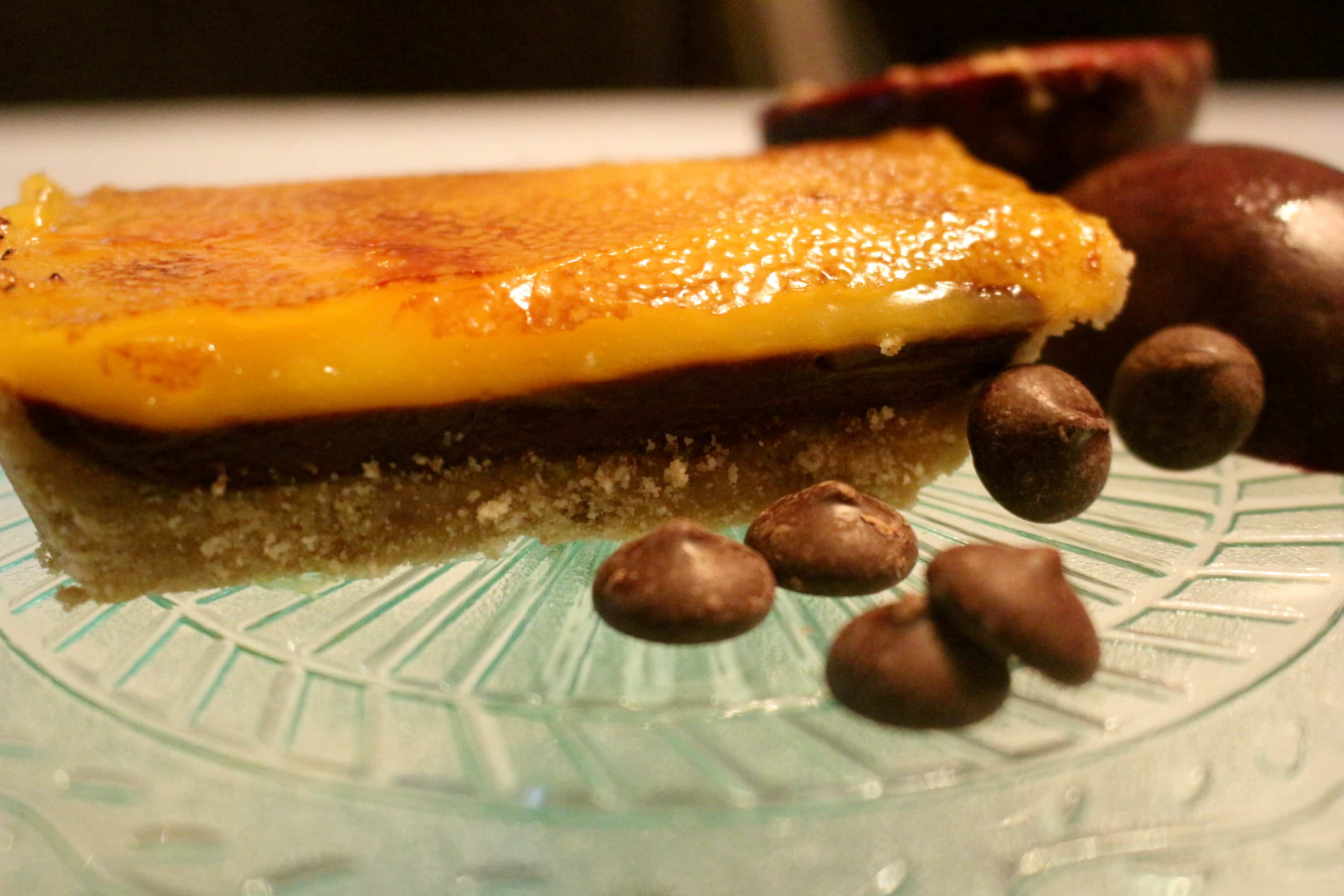 Chocolate Passionfruit Tart
