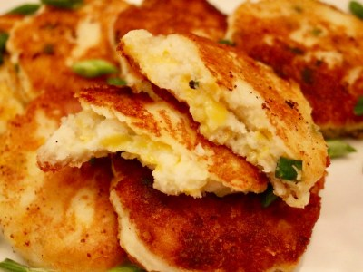 Green Onion & Cheddar Potato Cakes