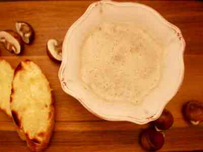 Creamy Chestnut & Mushroom Soup