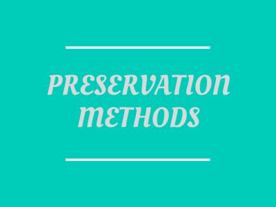 Preserving Methods