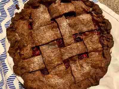 Chocolate Blackberry Pie