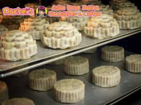 Mooncakes go into oven