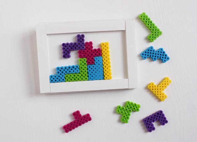 perler bead puzzle - pentominoes