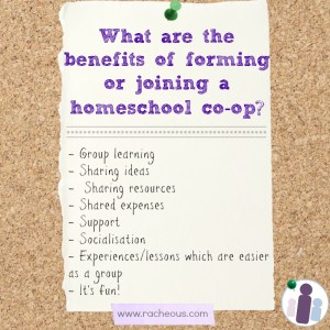 The benefits of a homeschool co-op