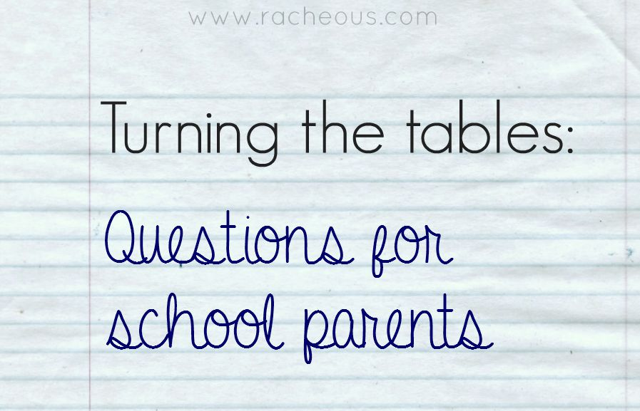 questions for school parents