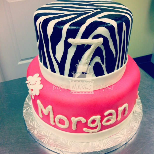Pink Zebra Cake For Morgan Rach Makes Cakes