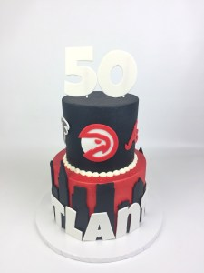 Fantastic Atl Sports Cake Rach Makes Cakes Funny Birthday Cards Online Sheoxdamsfinfo