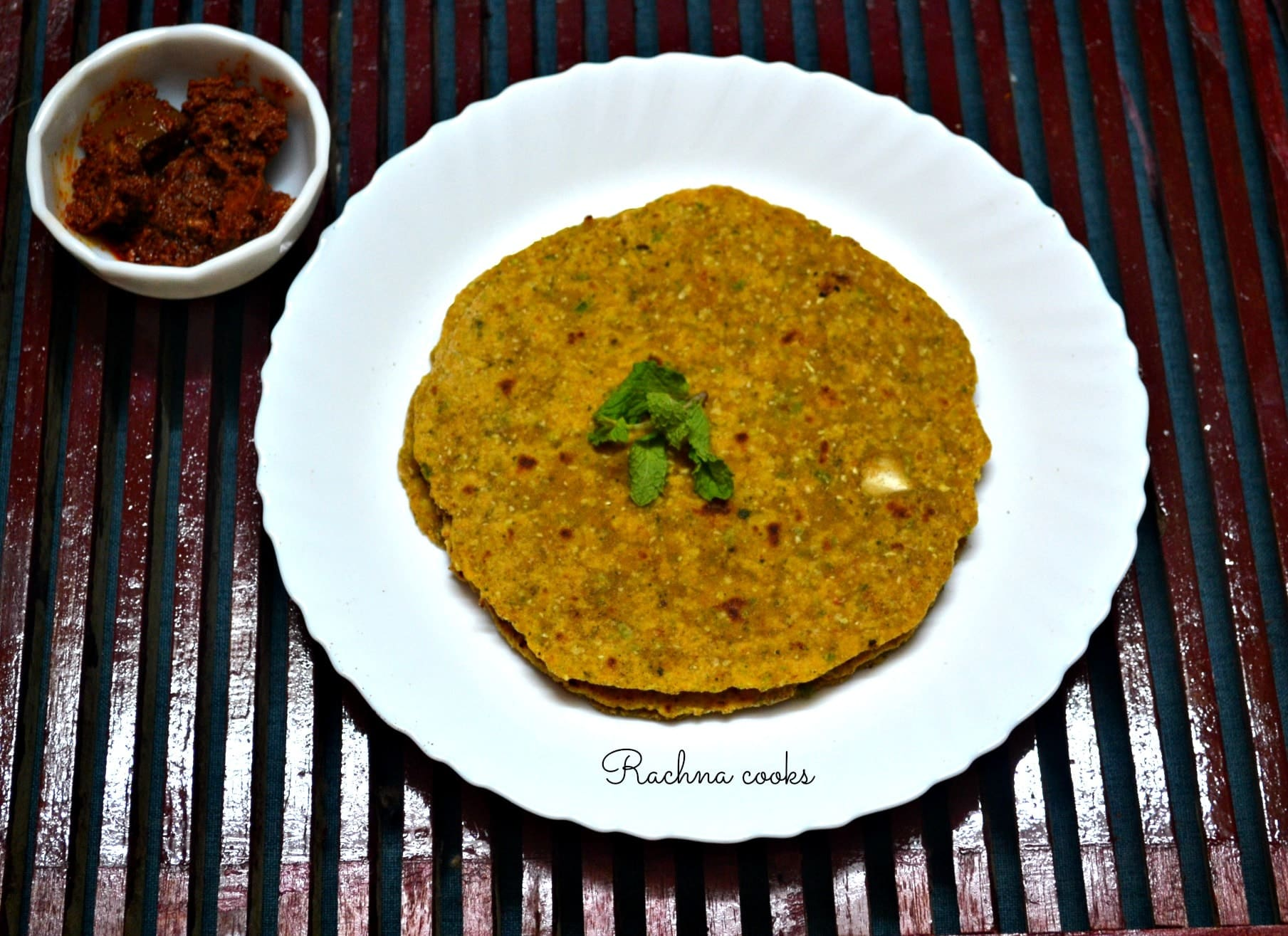 Cabbage and Capsicum Multigrain Paratha
