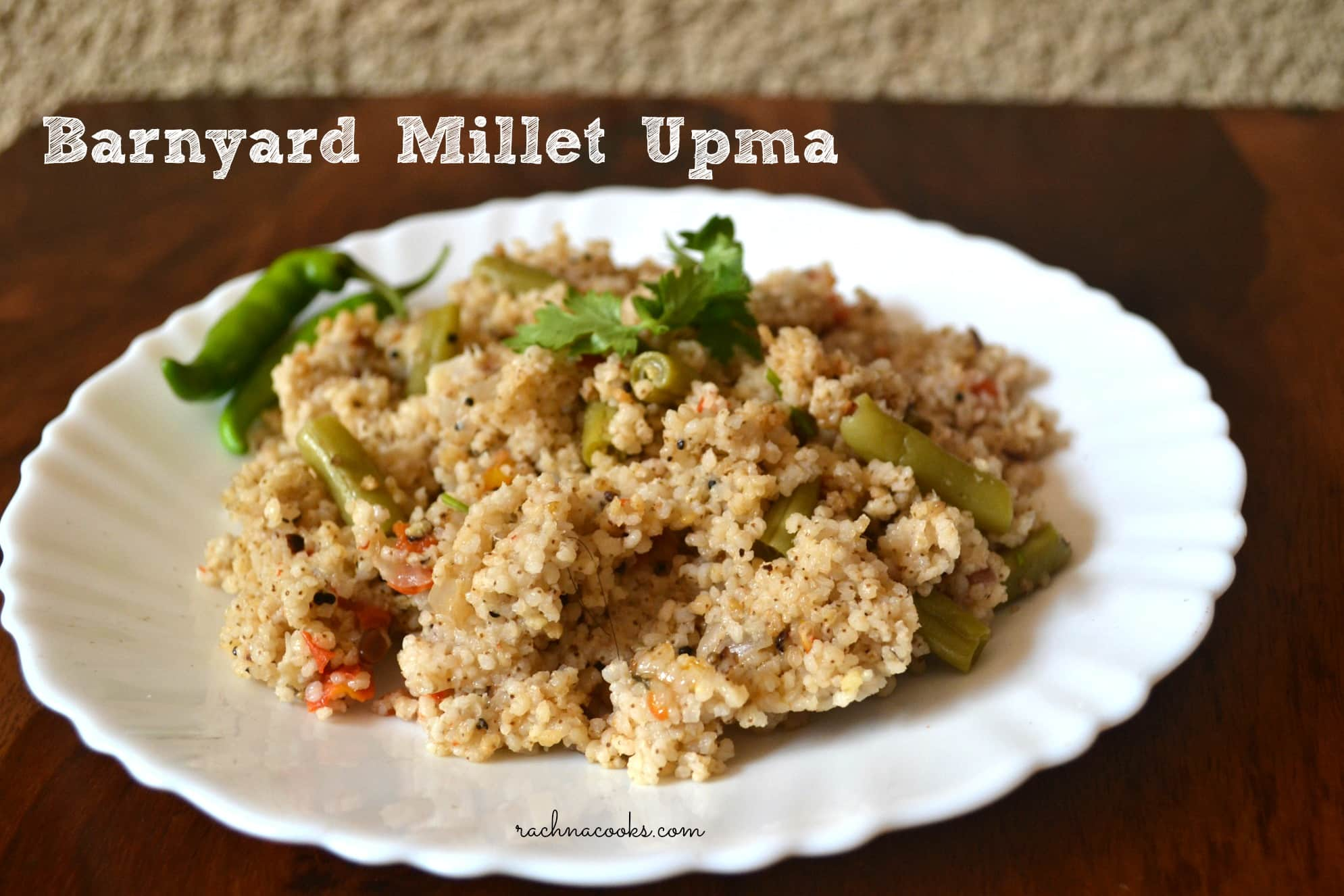 Healthy Barnyard Millet Upma Recipe