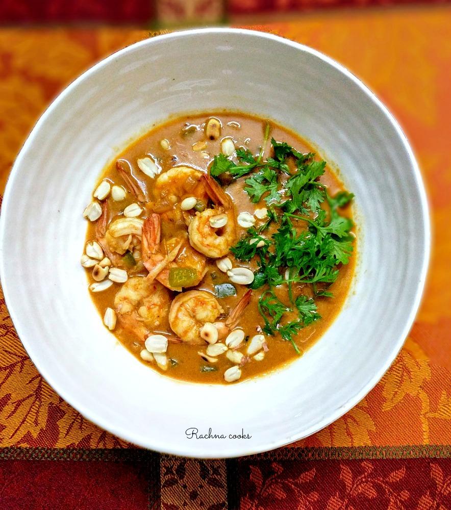 panang curry prawns