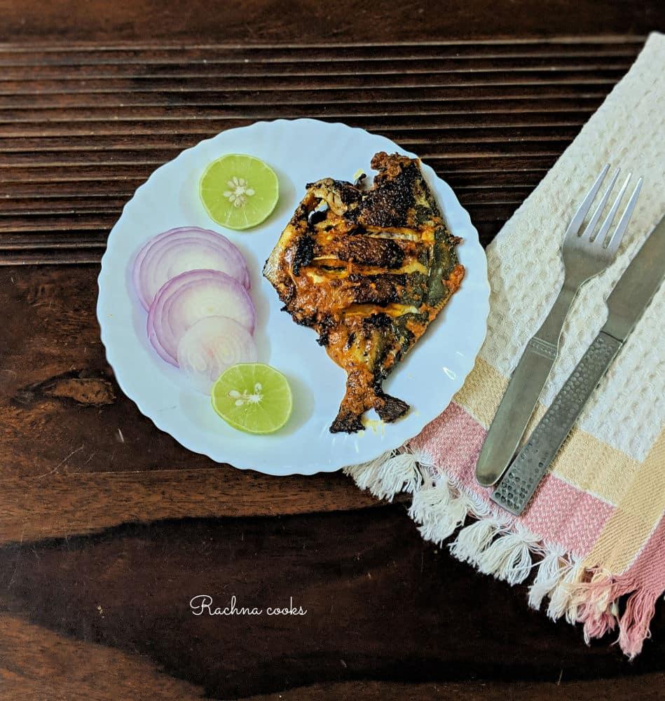 Pomfret Tawa Fry | Tasty Pomfret Fry Recipe