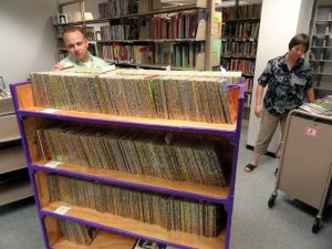 Chris Terry helped the Racine Public Library in 2012 complete its collection of Little Golden Books.