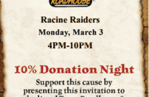 Texas Roadhouse donation night
