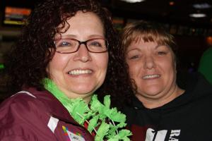Raiders concessions manager Kathie Davis-Edwards with personnel manager Carol Clark (left).