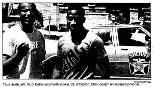 Titus Heath and Keith Boykin helped catch a prison escapee.