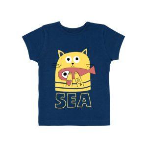 T-shirt Bleu Marine - GOTS - Biologique - Economique - Bébé