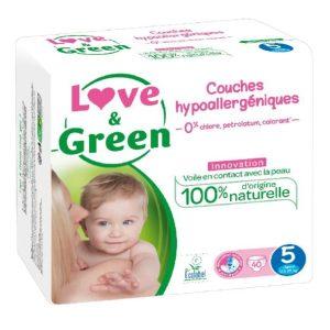 Love & Green Taille 5 Biodégradable , écologique et naturel
