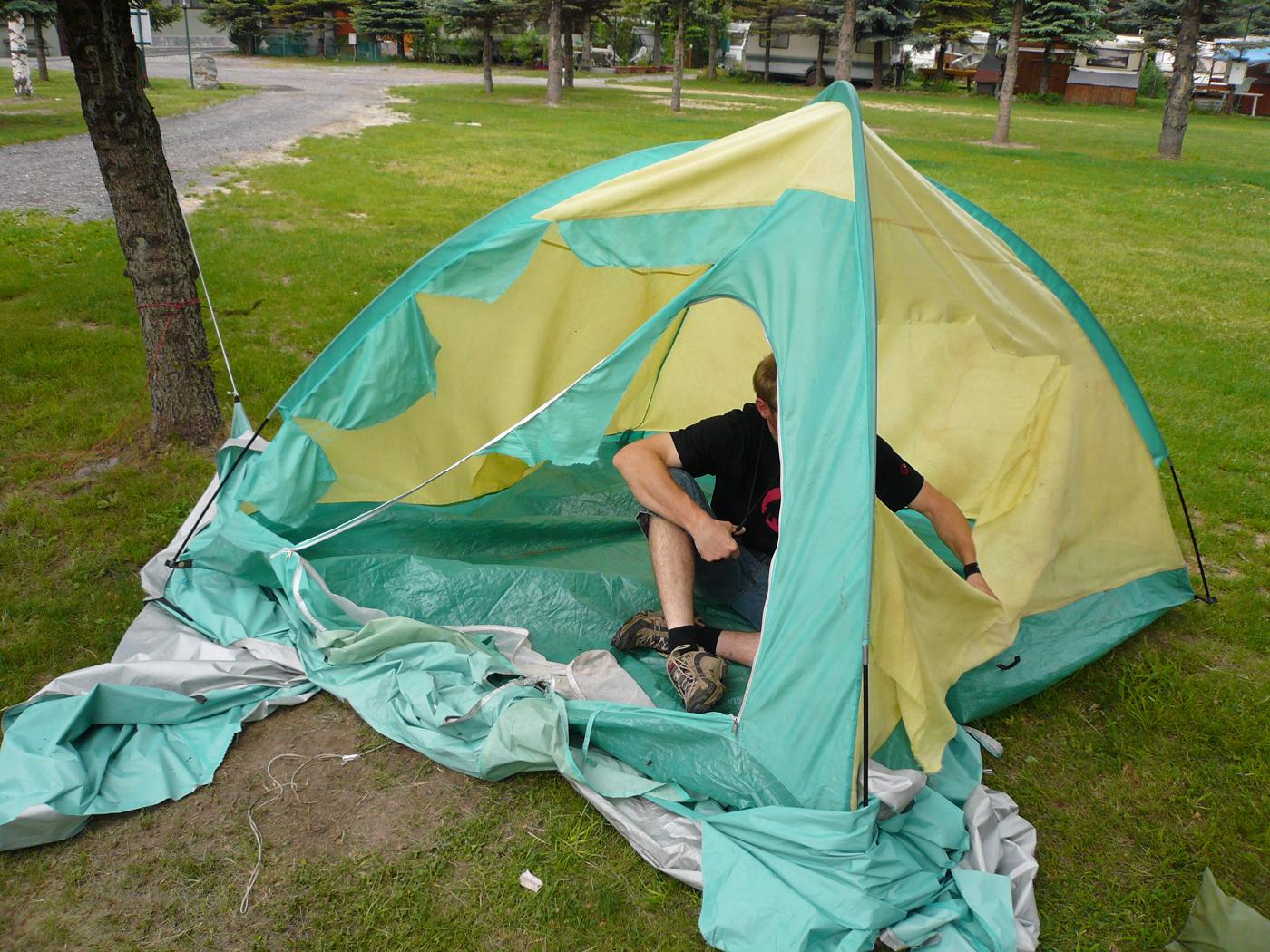 Camping Zelt Susa Tal Bike Urlaub