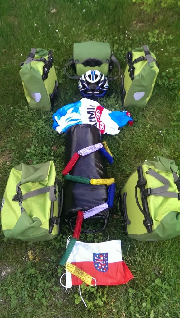 Gepäck für eine Radtour