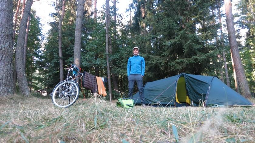 Camping Platz im Wald Tschechien