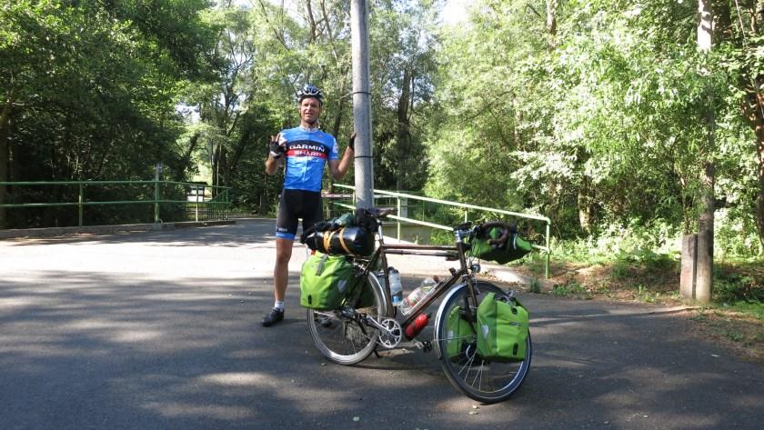 Abfahrt vom Camping Platz zur Etappe 3