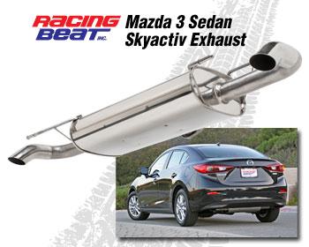 exhaust system 4 door 2014 18 mazda3 skyactiv 2 0 2 5