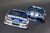 2012_Michigan_Aug_NSCS_Dale_Earnhardt_Jr_leads_Jimmie_Johnson