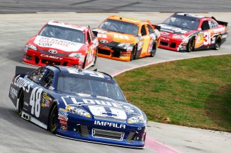 2012 Martinsville2 Jimmie Johnson Leads Group Of Car