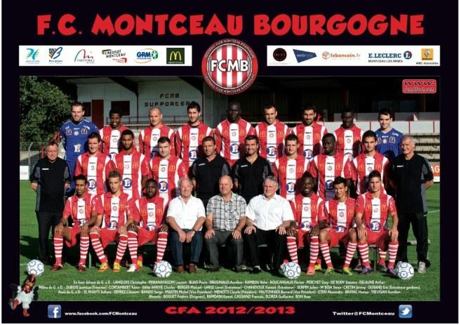 L'équipe du Football Club Montceau Bourgogne