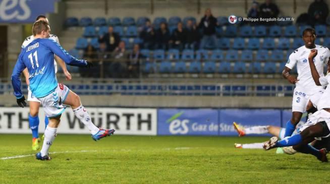 Dimitri Liénard marque son 4ème but de la saison et devient le meilleur goléador du RCSA